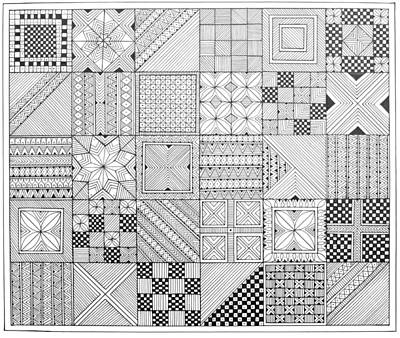 Fun Drawing - Pattern 1 by Neeti Goswami