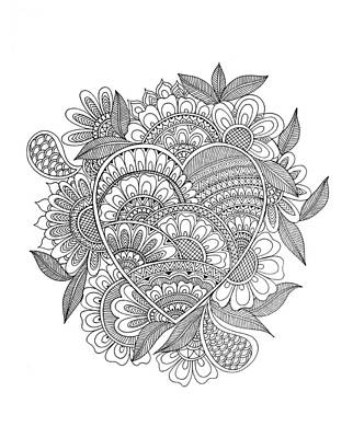 Fun Drawing - Pattern 11 by Neeti Goswami