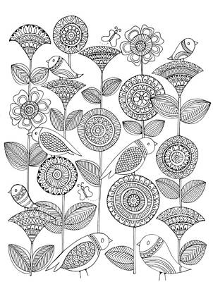 Fun Drawing - Pattern 12 by Neeti Goswami