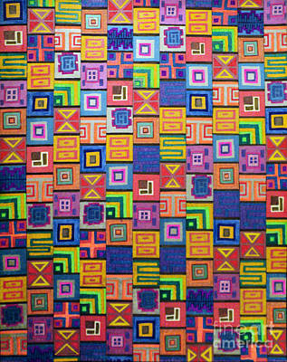 Drawing - Pattern And Color Study by Megan Dirsa-DuBois