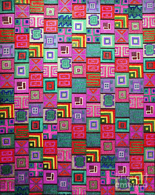 Drawing - Pattern And Color Study3 by Megan Dirsa-DuBois