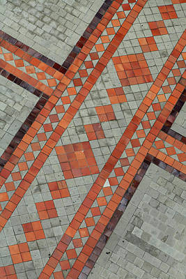Mosaic Photograph - Pattern Detail Front Courtyard by Brent Bergherm