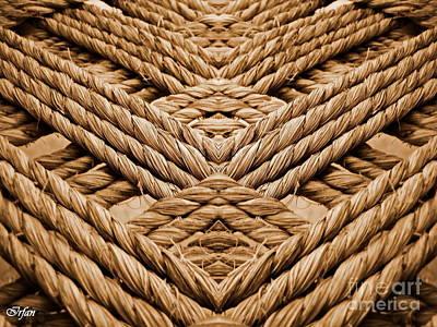 Hand Made Digital Art - Pattern by Irfan Gillani