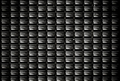 Photograph - Pattern Of Hotel Balconies In Black And by Copyright By Siripong Kaewla-iad