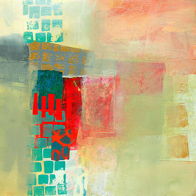 Abstract Collage Painting - Pattern Study #2 by Jane Davies