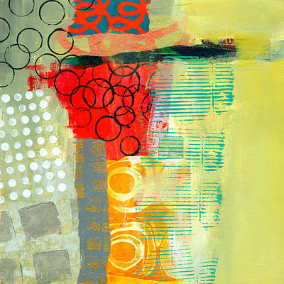 Abstract Collage Painting - Pattern Study #3 by Jane Davies