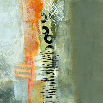 Abstract Collage Painting - Pattern Study Nuetral 1 by Jane Davies