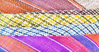 Crochet Thread Photograph - Patterned Fabrics by Tom Gowanlock