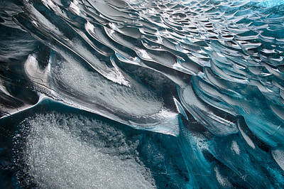 Patterns In Ice Art Print by Timm Chapman
