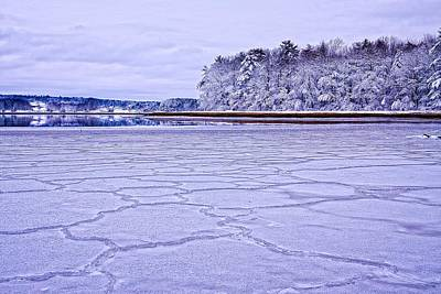 Photograph - Patterns In The Ice Royalls Cove by Jeff Sinon