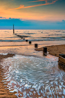 Patterns On The Beach  Art Print by Adrian Evans