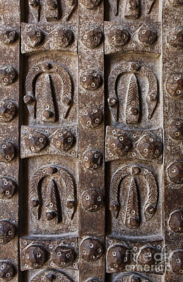 Aleppo Photograph - Patterns On The Metal Door Of The Citadel In Aleppo by Robert Preston