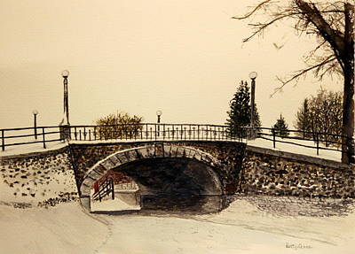 Patterson Creek Bridge In Winter Art Print