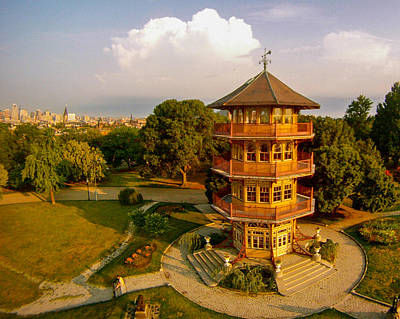Patterson Park Pagoda Art Print by Elevated Element