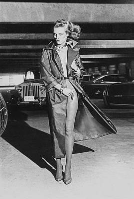 High Fashion Photograph - Patti Hansen In A Silk Raincoat By John Anthony by Chris von Wangenheim