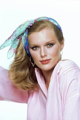 Photograph - Patti Hansen Wearing A Chloe Headscarf by Arthur Elgort