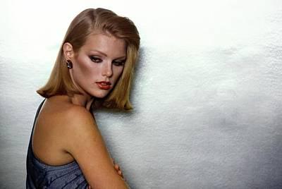 Photograph - Patti Hansen Wearing Estee Lauder Make-up by Arthur Elgort
