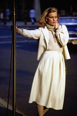 Photograph - Patti Hansen Wearing Gloria Vanderbilt by Arthur Elgort