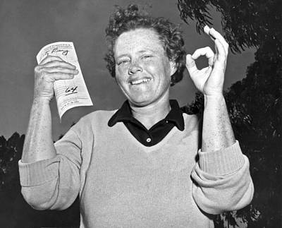 Excellence Photograph - Patty Berg Shoots A 64 by Underwood Archives