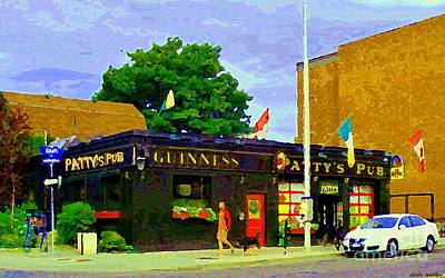Painting - Patty's Pub Guinness On The Glebe Restaurant Bar Bank And Ossington Paintings Of Ottawa Art Cspandau by Carole Spandau