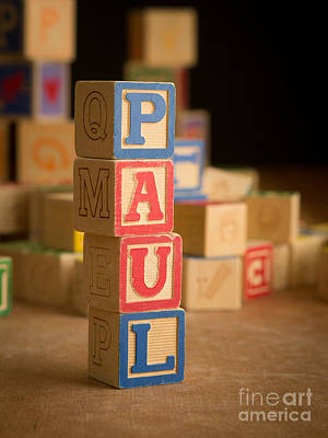 Photograph - Paul - Alphabet Blocks by Edward Fielding