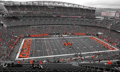 Photograph - Paul Brown Stadium by Dan Sproul