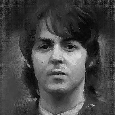 Digital Art - Paul by Charlie Roman