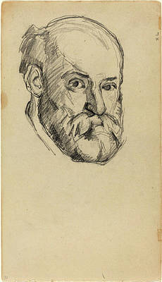 Self-portrait Drawing - Paul Cézanne, French 1839-1906, Self-portrait Recto by Litz Collection