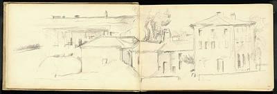 Provence Drawing - Paul Cézanne, Landscape Near Aix-en-provence by Litz Collection