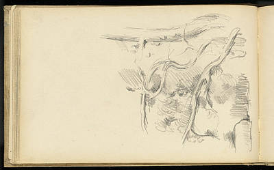 Pine Trees Drawing - Paul Cézanne, Pine Tree, French, 1839 - 1906 by Quint Lox