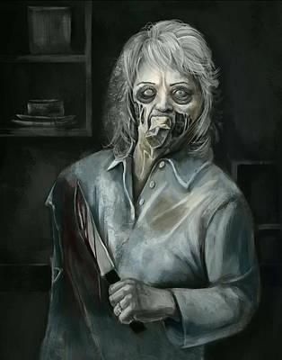Zombie Digital Art - Paul Deen - Health Issue by Chok Bun  Lam