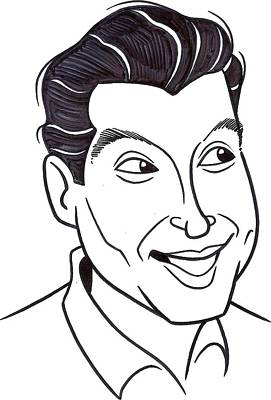 Voice Actor Drawing - Paul Frees Drawing by Mark ONeill