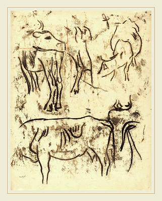Paul Gauguin Drawing - Paul Gauguin, Animal Studies, French, 1848-1903 by Litz Collection