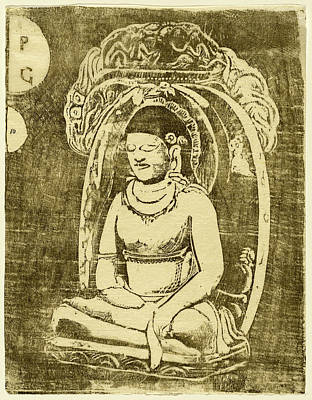 Paul Gauguin Drawing - Paul Gauguin, French 1848-1903, Bouddha Buddha by Litz Collection