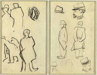 Paul Gauguin Drawing - Paul Gauguin French, 1848 - 1903, Figure Studies Studies by Quint Lox
