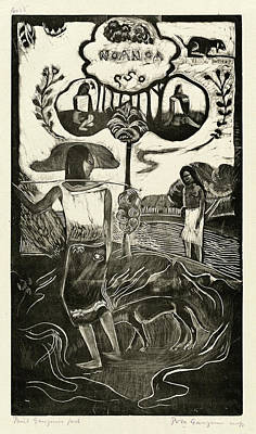 Paul Gauguin Drawing - Paul Gauguin, French 1848-1903, Noa Noa Fragrant by Litz Collection