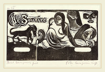 Paul Gauguin Drawing - Paul Gauguin French, 1848-1903, Title Page For Le Sourire by Litz Collection