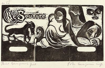 Paul Gauguin Drawing - Paul Gauguin French, 1848 - 1903, Title Page For Le Sourire by Quint Lox