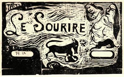 """Pour Drawing - Paul Gauguin French, 1848 - 1903. Titre Pour """"le by Litz Collection"""