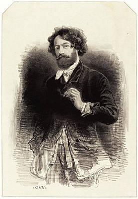 Self-portrait Drawing - Paul Gavarni French, 1804 - 1866, Self-portrait by Quint Lox