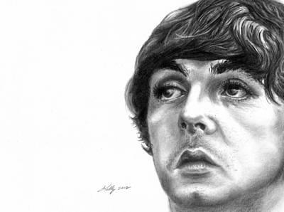 Mccartney Drawing - Paul by Kathleen Kelly Thompson