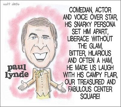 Paul Lynde Drawing - Paul Lynde by Scott Clarke