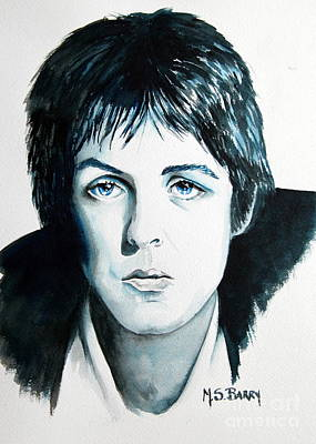 Paul Mc Cartney Art Print by Maria Barry