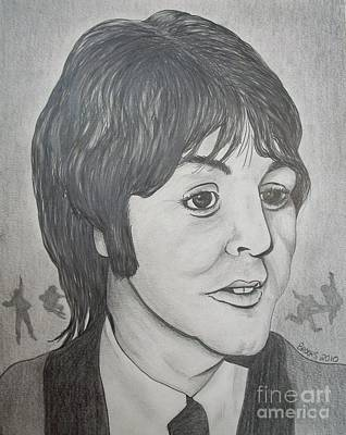 Drawing - Paul Mccartney 2 By Richard Brooks. by Richard Brooks
