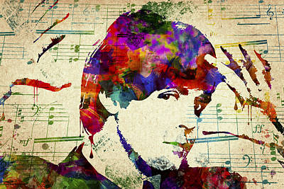John Lennon Drawing Digital Art - Paul Mccartney by Aged Pixel