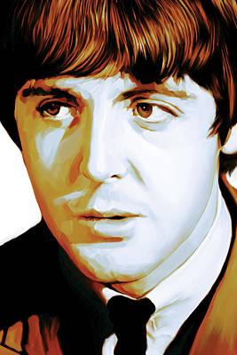 The Beatles Art Painting - Paul Mccartney Artwork by Sheraz A