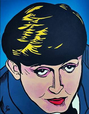 Painting - Paul Mccartney  Cartoon by Edward Pebworth