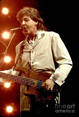 Beatles Photograph - Paul Mccartney by Concert Photos