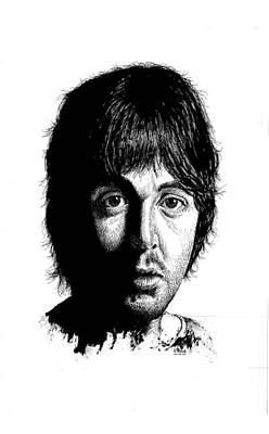 Mccartney Drawing - Paul Mccartney by Kenneth Stock