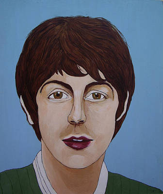 Paul Mccartney Art Print by Linda Kassabian